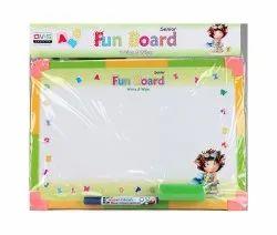 QVIS pvs Green White Board, Marker, Size/Dimension: 10.5 X 15
