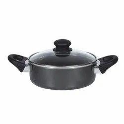 Black Mini Pot, Capacity: 0.9 Litre, Size: Small