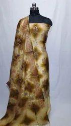 Party Wear Art Silk Suit Material