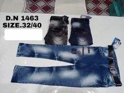 Denim Casual Wear Kids Stretchable Jeans, Size: 32 To 40, Handwash