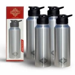 High Quality Stainless Steel Flat Design Water Bottle With Sipper Cap at Wholesale Price