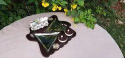 Revolving Wooden Serving Platter