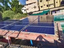 Roof Top On Grid Solar Panel Installation Service, For Commercial