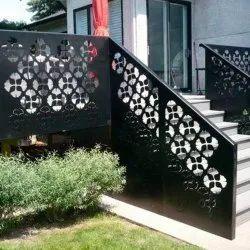 Black Metal Stair Railing, For Home
