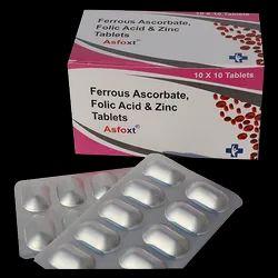 Ferrous Ascorbate & Folic Acid With Zinc Tablets