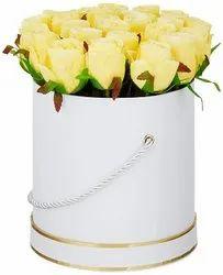 情人节礼品盒四壁人造玫瑰花束,尺寸:20厘米x20厘米x22厘米,包装尺寸:1