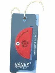 Blue Art Paper Hang Garment Tag, For Garments