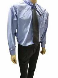 Polyester Cotton Plain Mens Formal Shirt Tie Set, Size: Large