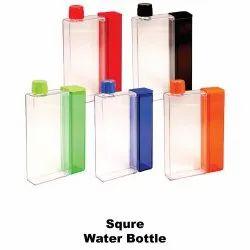Screw Cap Square Plastic Water Bottle, Capacity: 500ml