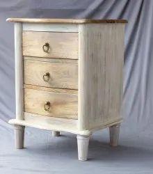 Wooden Bedside Distress Finish