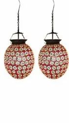 LED Handmade Decorative Brass Hanging Lamp, For Home, 5W