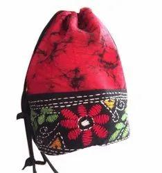 Casual Wear Rani Pink Handmade Cotton Potli Bag