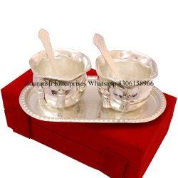 Wedding Gift Silver Plated Handi Bowl Set