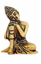 Gold Plated Side Face Buddha Statue For Home Decoration, Good Luck, Feng Shui & Corporate Gift