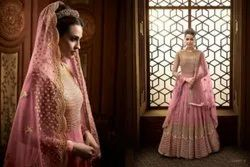 Georgette Party Wear Ladies Embroidery Anarkali Suits, Size: Large