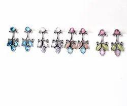 Blue Topaz, White Topaz, Monalisa Gemstone Earrings Jewelry