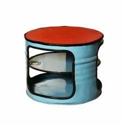 Gigantiques Mild Steel 2 Compartment Barrel Tea Poy