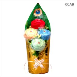 Cotton Plain Dhulam Inds Napkin Bouquet, For Gift, Size: 12*12