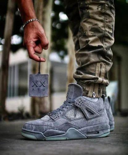 Air Jordan Retro 4 Kaws ' Cool Grey' Men's Shoes at Rs 3599/pair ...