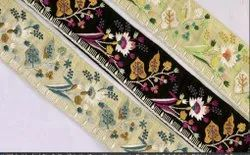 Cotton Parsi Embroidered Lace, Width: 2.5 to 5 Meter, Size: 9 Meters Per Roll