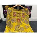 Rayon Printed Embroidered Kurti