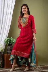 Dhoti Style Sharara Kurta Set