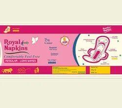 sanitary napkins 7 pcs packet