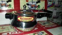 Handi Heavy Base Silver Pressure Cooker, For Home, Capacity: 5 Liter