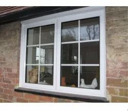 Modern Aluminium Glass Window, For Home, Size/Dimension: 6X5ft