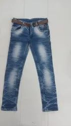 Casual Wear Embroidery Kids Denim Jeans, Size: 32(32 To 40, Handwash