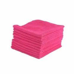 Pink Microfiber Cleaning Towel