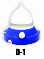Pintron Plastic D1 LED Rechargeable Light, Battery Type: Lead-acid, Capacity: 1000 Mah