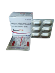 Avunox-625 LB  Amoxycillin 500mg+ Potassium Clavulanate 125mg Lactic Acid  Bacillus 10x6