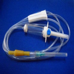 Long Tube PVC Infusion Set, For Hospital, Grade: A
