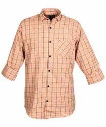 GoldenFiber Collar Neck Mens Checked Cotton Shirt