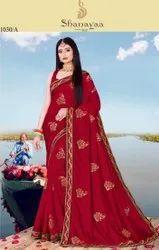 Designer Vichitra Silk Saree
