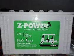 Z-Power E-Rickshaw Battery, Voltage: 12 V, Capacity: 100 to 130 Ah