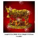 Golden Kamdhenu Cow Statue