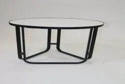 Powder Coated Wrought Iron Side Table, For Home