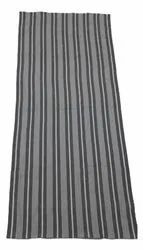 Striped Gray and White Dobby Cotton Bath Towel, For Hotel, Size: 30x60inch
