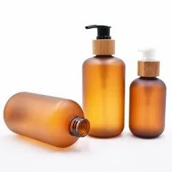 200,300 and 500 ml amber frosted pet bottle