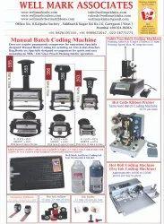 Manual Batch Coding Stamping Printers Machine