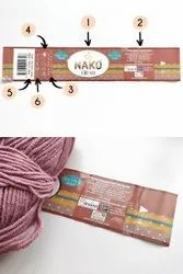 YARN PAPER LABELS PRINT, With Design