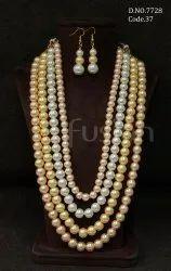 Fusion Arts Designer Pearl Necklace Set
