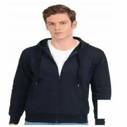 Full Sleeves Mens Blue Hoodie