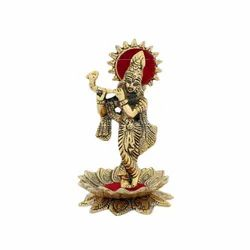 Gold Plated Krishna Statue For Home Decoration & Corporate Gift