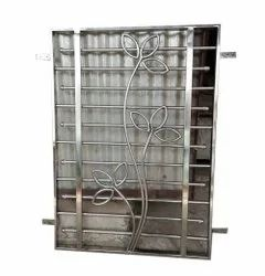 Polished Stainless Steel Window Grill, Material Grade: SS304, Size/Dimension: 4 X 3 Feet (h X W)