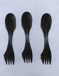 3 In1 Disposable Plastic Spoon
