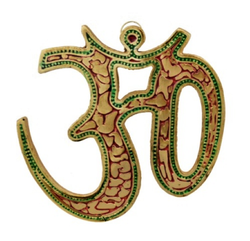 Gold Plated Om Statue Wall Hanging For Home Decoration & Corporate Gift