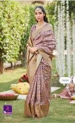Colourthreads Creation 6.3 m (with blouse piece) Trendy Banarasi Silk Saree